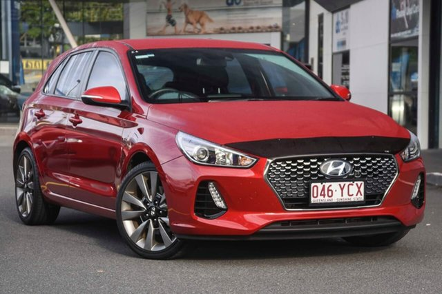 Used Hyundai i30 PD MY18 SR D-CT, 2018 Hyundai i30 PD MY18 SR D-CT Red 7 Speed Sports Automatic Dual Clutch Hatchback