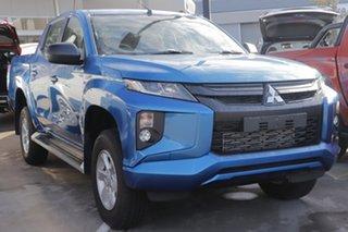 2019 Mitsubishi Triton MR MY19 GLX+ Double Cab Impulse Blue 6 Speed Sports Automatic Utility.