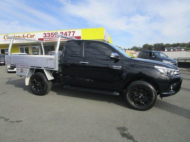 Used Toyota Hilux GUN126R SR5 Extra Cab, 2016 Toyota Hilux GUN126R SR5 Extra Cab Black 6 Speed Manual Utility