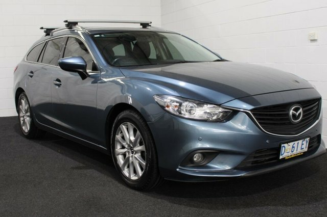 Used Mazda 6 GJ1021 Touring SKYACTIV-Drive, 2013 Mazda 6 GJ1021 Touring SKYACTIV-Drive Blue 6 Speed Sports Automatic Wagon