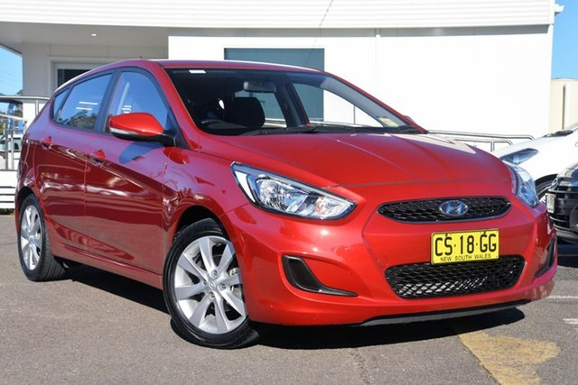 Used Hyundai Accent RB6 MY18 Sport, 2018 Hyundai Accent RB6 MY18 Sport Red 6 Speed Sports Automatic Hatchback