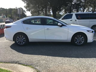 2020 Mazda 3 BP2S7A G20 SKYACTIV-Drive Pure White Pearl 6 Speed Sports Automatic Sedan.