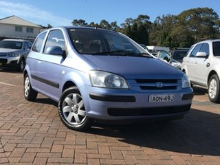 2004 Hyundai Getz TB MY04 GL Blue 4 Speed Automatic Hatchback.