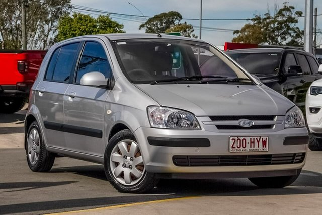 Used Hyundai Getz TB MY04 GL, 2004 Hyundai Getz TB MY04 GL Silver, Chrome 5 Speed Manual Hatchback