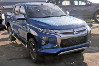 2019 Mitsubishi Triton MR MY19 GLS Double Cab Impulse Blue 6 Speed Sports Automatic Utility.