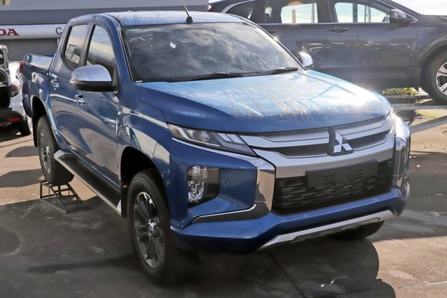 Demo Mitsubishi Triton MR MY19 GLS Double Cab, 2019 Mitsubishi Triton MR MY19 GLS Double Cab Impulse Blue 6 Speed Sports Automatic Utility