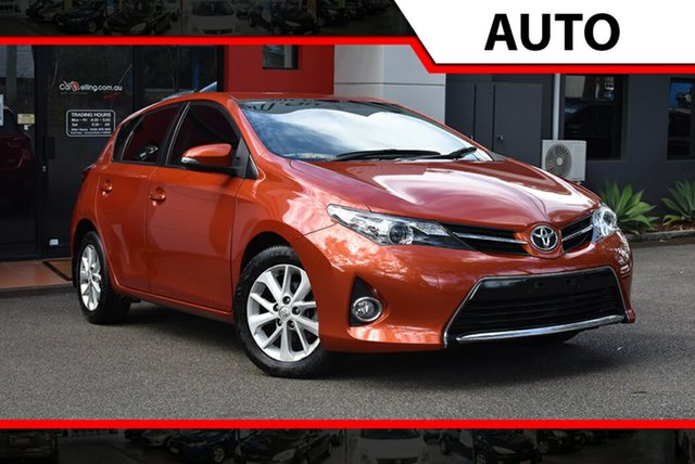 Used Toyota Corolla ZRE182R Ascent Sport S-CVT, 2013 Toyota Corolla ZRE182R Ascent Sport S-CVT Deep Orange Metallic 7 Speed Hatchback