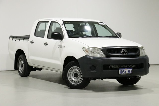 Used Toyota Hilux TGN16R MY11 Upgrade Workmate, 2011 Toyota Hilux TGN16R MY11 Upgrade Workmate White 5 Speed Manual Dual Cab Pick-up