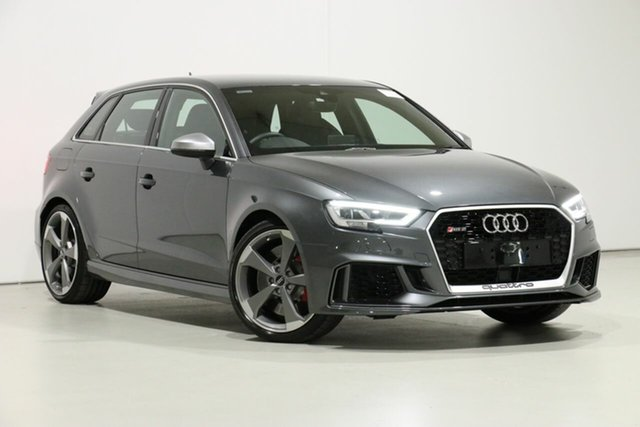 Demo Audi RS 3 8V MY18 Sportback Quattro, 2018 Audi RS 3 8V MY18 Sportback Quattro Daytona Grey 7 Speed Auto Dual Clutch Hatchback