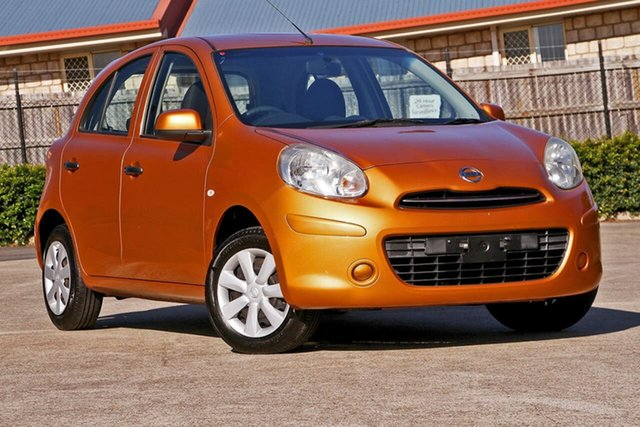 Used Nissan Micra K13 MY13 ST, 2013 Nissan Micra K13 MY13 ST Orange 4 Speed Automatic Hatchback
