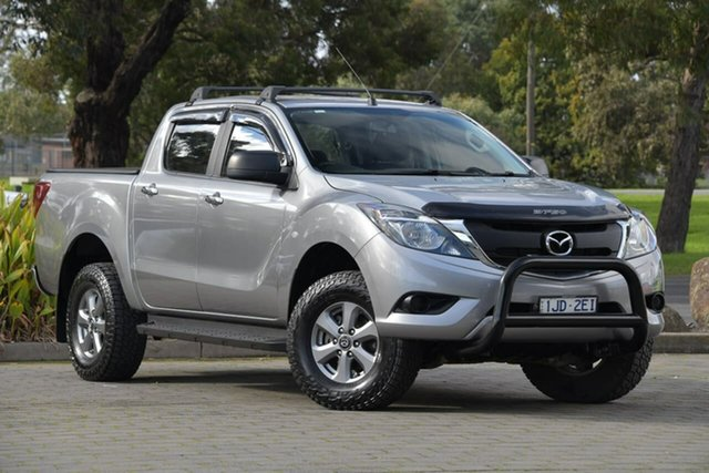 Used Mazda BT-50 UR0YG1 XT, 2016 Mazda BT-50 UR0YG1 XT Silver, Chrome 6 Speed Sports Automatic Utility