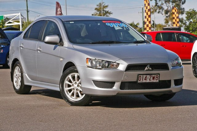 Used Mitsubishi Lancer CJ MY10 Activ, 2010 Mitsubishi Lancer CJ MY10 Activ Silver, Chrome 5 Speed Manual Sedan