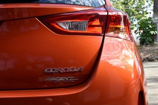 2013 Toyota Corolla ZRE182R Ascent Sport S-CVT Deep Orange Metallic 7 Speed Constant Variable