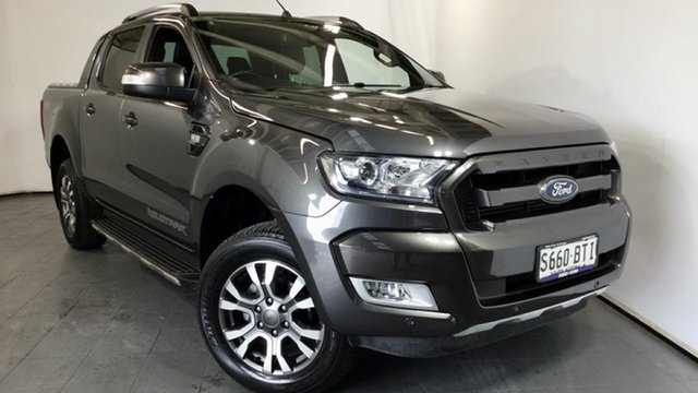 Used Ford Ranger PX MkII 2018.00MY Wildtrak Double Cab, 2017 Ford Ranger PX MkII 2018.00MY Wildtrak Double Cab Grey 6 Speed Sports Automatic Utility
