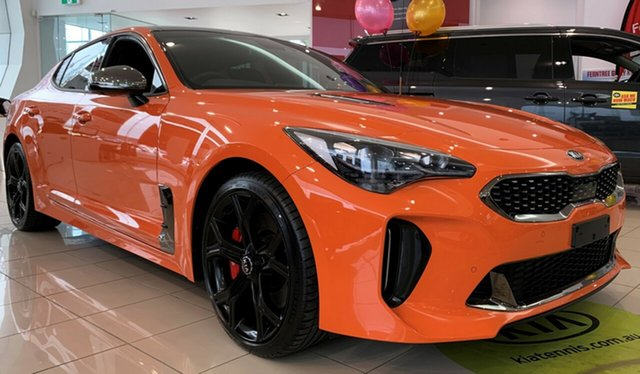 New Kia Stinger CK MY20 GT Fastback, 2019 Kia Stinger CK MY20 GT Fastback Neon Orange 8 Speed Sports Automatic Sedan