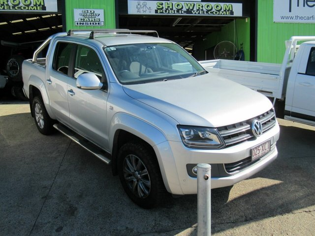 Used Volkswagen Amarok 2H MY16 TDI420 4Motion Perm Highline, 2016 Volkswagen Amarok 2H MY16 TDI420 4Motion Perm Highline Silver 8 Speed Automatic Utility