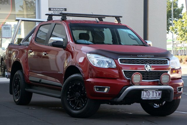 Used Holden Colorado RG MY14 LTZ Space Cab, 2014 Holden Colorado RG MY14 LTZ Space Cab Red 6 Speed Manual Utility