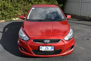 2018 Hyundai Accent RB6 MY18 Sport Red/Black 6 Speed Manual Hatchback.