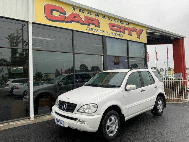 Used Mercedes-Benz ML270 CDI W163 4x4, 2003 Mercedes-Benz ML270 CDI W163 4x4 White 5 Speed Auto Tipshift Wagon