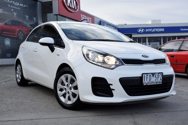 Used Kia Rio UB MY15 S, 2015 Kia Rio UB MY15 S White 4 Speed Sports Automatic Hatchback