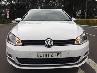 2015 Volkswagen Golf 7 92TSI Trendline White Sports Automatic Dual Clutch.