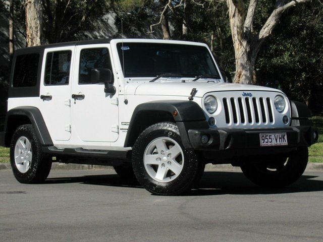 Used Jeep Wrangler JK MY2015 Unlimited Sport, 2014 Jeep Wrangler JK MY2015 Unlimited Sport White 5 Speed Automatic Softtop