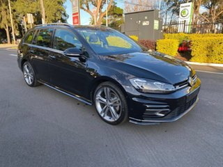 2017 Volkswagen Golf 7.5 MY18 110TSI DSG Highline Black 7 Speed Sports Automatic Dual Clutch Wagon.