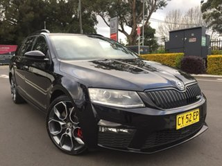2015 Skoda Octavia NE MY15.5 RS DSG 162TSI Black 6 Speed Sports Automatic Dual Clutch Wagon.