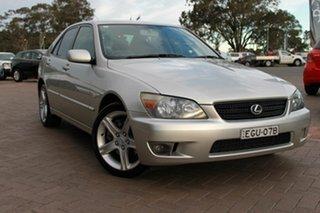 2004 Lexus IS GXE10R MY02 IS200 Sports Luxury Black 6 Speed Manual Sedan.