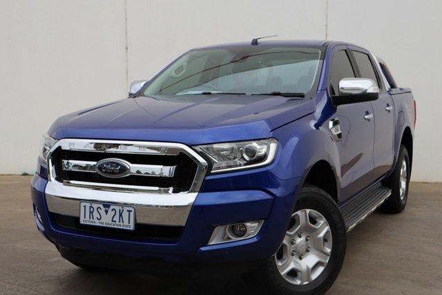 Used Ford Ranger PX MkII XLT Double Cab, 2016 Ford Ranger PX MkII XLT Double Cab Aurora Blue 6 Speed Sports Automatic Utility