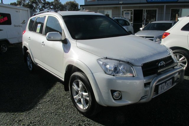 Used Toyota RAV4 ACA38R MY11 Cruiser 4x2, 2011 Toyota RAV4 ACA38R MY11 Cruiser 4x2 White 5 Speed Manual Wagon