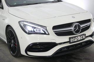 2016 Mercedes-Benz CLA-Class C117 806MY CLA45 AMG SPEEDSHIFT DCT 4MATIC White 7 Speed.