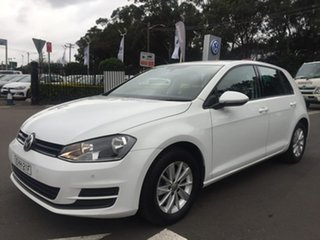 2015 Volkswagen Golf 7 92TSI Trendline White Sports Automatic Dual Clutch.