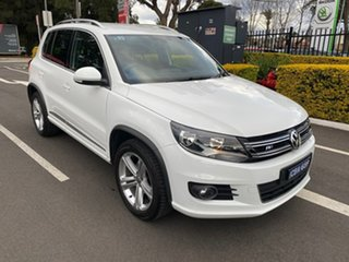 2015 Volkswagen Tiguan 5N MY16 132TSI DSG 4MOTION White 7 Speed Sports Automatic Dual Clutch Wagon.