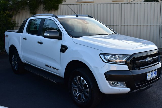 Used Ford Ranger PX MkII 2018.00MY Wildtrak Double Cab, 2018 Ford Ranger PX MkII 2018.00MY Wildtrak Double Cab White 6 Speed Manual Utility