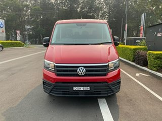 2018 Volkswagen Crafter SY1 MY18 35 LWB TDI410 Red 8 Speed Automatic Cab Chassis.
