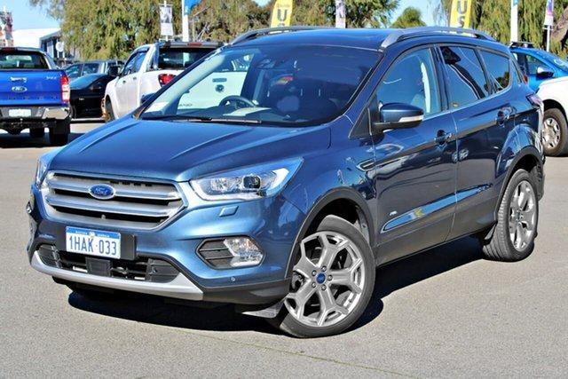 Used Ford Escape ZG 2019.25MY Titanium PwrShift AWD, 2019 Ford Escape ZG 2019.25MY Titanium PwrShift AWD Blue 6 Speed Sports Automatic Dual Clutch Wagon