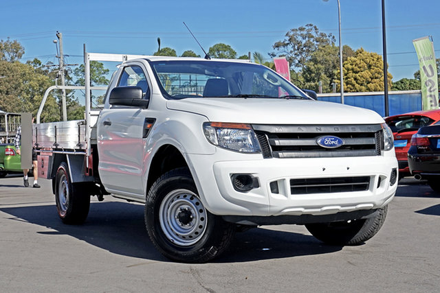 Used Ford Ranger PX XL, 2013 Ford Ranger PX XL White 6 Speed Manual Cab Chassis