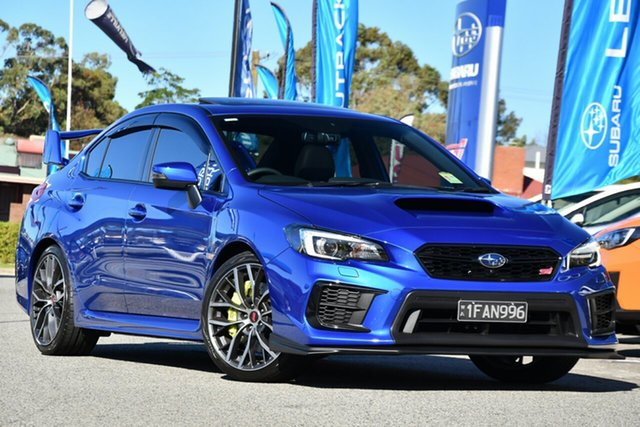 Demo Subaru WRX V1 MY20 STI AWD Premium, 2020 Subaru WRX V1 MY20 STI AWD Premium WR Blue 6 Speed Manual Sedan