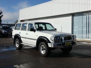 1996 Toyota Landcruiser FZJ80R GXL White 4 Speed Automatic Wagon.