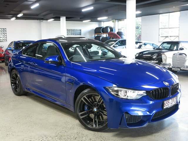 Used BMW M4 F82 LCI Pure M-DCT, 2018 BMW M4 F82 LCI Pure M-DCT San Marino Blue 7 Speed Sports Automatic Dual Clutch Coupe