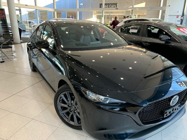 New Mazda 3 BP2HLA G25 SKYACTIV-Drive GT, 2020 Mazda 3 BP2HLA G25 SKYACTIV-Drive GT Jet Black 6 Speed Sports Automatic Hatchback