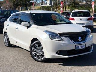 2017 Suzuki Baleno GLX Turbo Pearl White Sports Automatic Hatchback.