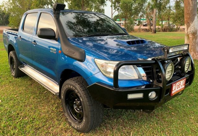 Used Toyota Hilux KUN26R MY14 SR Double Cab, 2014 Toyota Hilux KUN26R MY14 SR Double Cab Blue 5 Speed Manual Utility