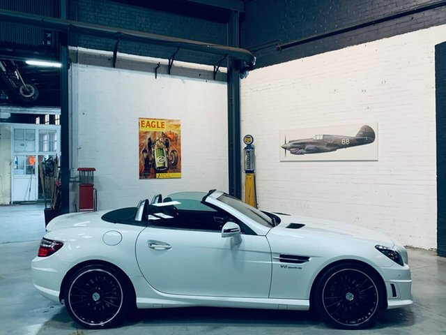 Used Mercedes-Benz SLK-Class R172 SLK55 AMG SPEEDSHIFT PLUS, 2012 Mercedes-Benz SLK-Class R172 SLK55 AMG SPEEDSHIFT PLUS White 7 Speed Sports Automatic Roadster