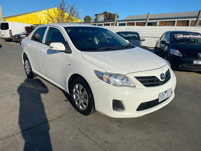 Used Toyota Corolla ZRE152R MY11 Ascent, 2011 Toyota Corolla ZRE152R MY11 Ascent White 4 Speed Automatic Sedan
