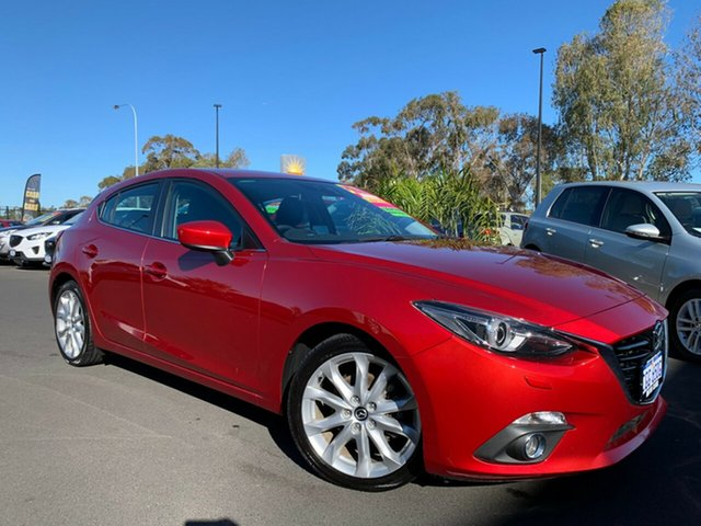 Used Mazda 3 BM5438 SP25 SKYACTIV-Drive GT Bunbury, 2014 Mazda 3 BM5438 SP25 SKYACTIV-Drive GT Red 6 Speed Sports Automatic Hatchback