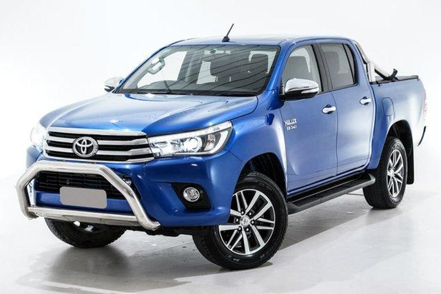 Used Toyota Hilux GUN126R SR5 Double Cab, 2017 Toyota Hilux GUN126R SR5 Double Cab Blue 6 Speed Sports Automatic Utility
