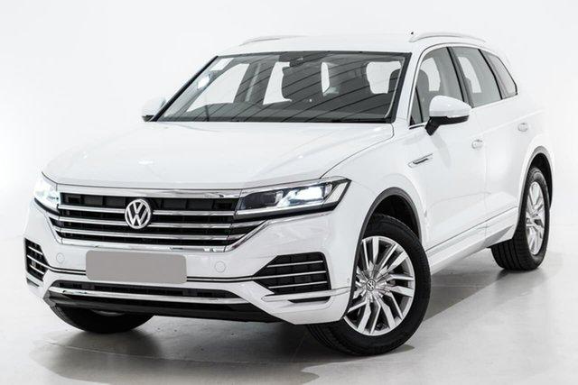 Used Volkswagen Touareg CR MY20 190TDI Tiptronic 4MOTION, 2019 Volkswagen Touareg CR MY20 190TDI Tiptronic 4MOTION White 8 Speed Sports Automatic Wagon