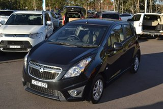2013 Holden Barina Spark MJ MY13 CD Black 4 Speed Automatic Hatchback.